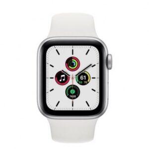 Apple Watch SE GPS + Cellular 40 mm aluminio Plata/correa deportiva Blanca