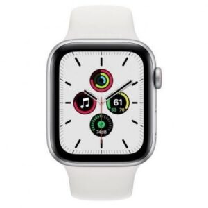 Apple Watch SE GPS + Cellular 44 mm aluminio Plata/correa deportiva Blanca