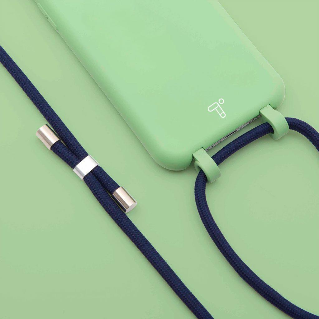 Fundas silicona iPhone 12 verde