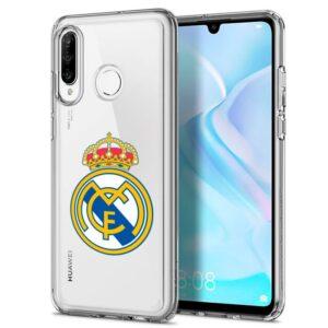 Carcasa Huawei P30 Lite Licencia Fútbol Real Madrid Transparente