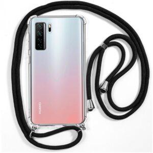 Funda Flip Cover Huawei P40 Lite 5G Cordón Negro