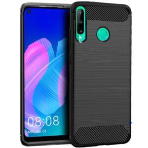 Funda Silicona 3D Huawei P40 Lite E Carbón Negro
