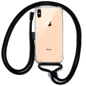 Carcasa Para IPhone XS Max Cordón Negro