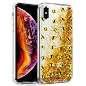 Carcasa Para IPhone XS Max Glitter Abejas