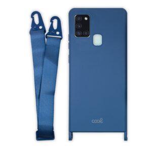 Carcasa Samsung A217 Galaxy A21s Cinta Azul