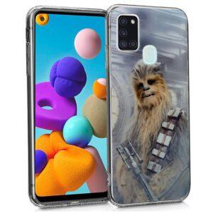 Carcasa Para Samsung Galaxy A21s Licencia Star Wars Chewbacca