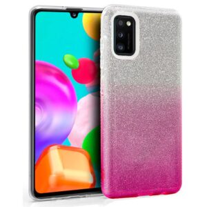 Carcasa Para Samsung A415 Galaxy A41 Glitter Rosa