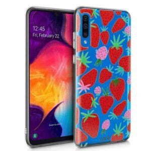 Carcasa Samsung A505 Galaxy A50 / A30s Clear Fresas