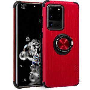 Carcasa Samsung G988 Galaxy S20 Ultra 5G Hard Tela + Anilla (Rojo)