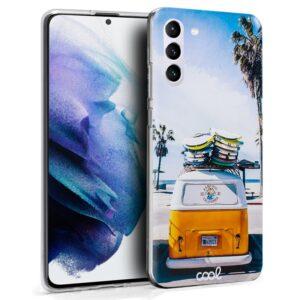 Carcasa Samsung G996 Galaxy S21 Plus Dibujos Peach
