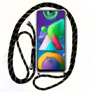 Carcasa Samsung M215 Galaxy M21 Cordón Negro-Amarillo