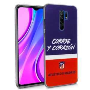 Carcasa Xiaomi Redmi 9 Licencia Fútbol Atlético De Madrid