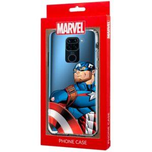 Carcasa Xiaomi Redmi Note 9 Licencia Marvel Capitán América