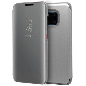 Funda Flip Cover Huawei Mate 20 Pro Clear View Plata