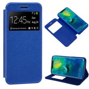 Funda Flip Cover Huawei Mate 20 Pro Liso Azul