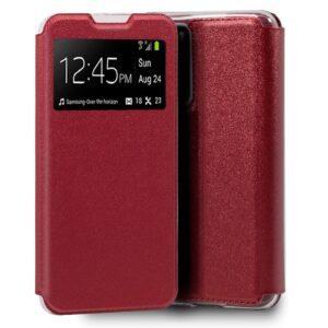 Funda  Flip Cover Para Huawei P40 Liso Rojo