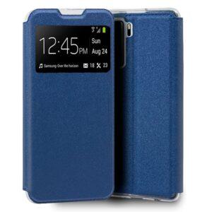 Funda Flip Cover Huawei P40 Lite 5G Liso Azul