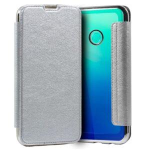 Funda Silicona 3D Huawei P40 Lite E Leather Plata