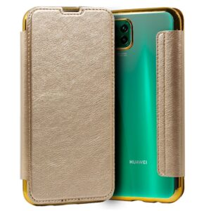 Carcasa Para Huawei P40 Lite Leather Dorado