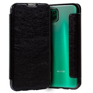 Carcasa Para Huawei P40 Lite Leather Negro