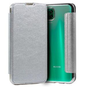 Carcasa Para Huawei P40 Lite Leather Plata