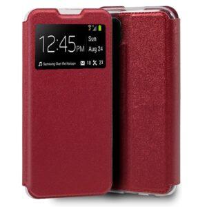 Funda Flip Cover Para Huawei P40 Lite Liso Rojo