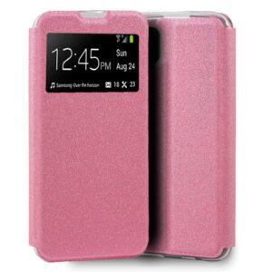 Funda Flip Cover Para Huawei P40 Lite Liso Rosa