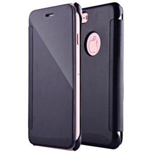 Funda Flip Cover para iPhone 7 / 8 / SE (2020) Clear View Negro