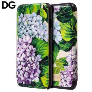 Funda Flip Cover para iPhone 7 / 8 / SE (2020) Licencia Dolce Gabbana Flores