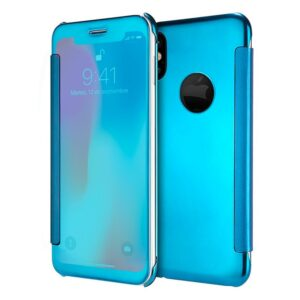 Funda Flip Cover Para IPhone X / IPhone XS Clear View Azul