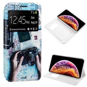 Funda Flip Cover Para IPhone XS Max Dibujos Travel