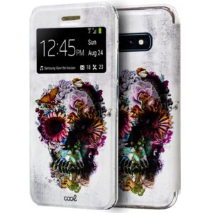 Funda Flip Cover Samsung G970 Galaxy S10e Dibujos Calavera