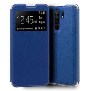 Funda Flip Cover Xiaomi Redmi 9 Liso Azul