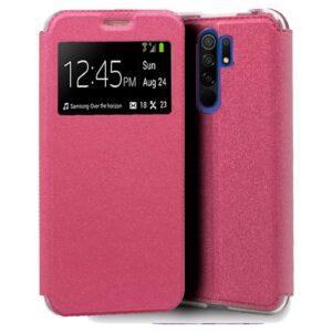 Funda Flip Cover Xiaomi Redmi 9 Liso Rosa