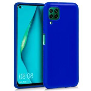 Funda Silicona Para Huawei P40 Lite (Azul)