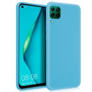 Funda Silicona Para Huawei P40 Lite (Celeste)