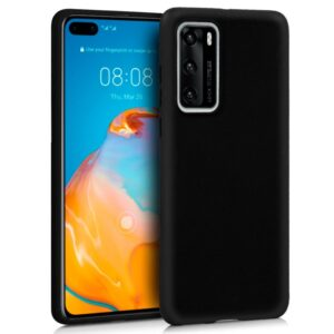 Funda Silicona Para Huawei P40 (Negro)