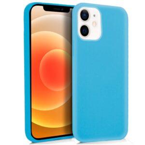 Funda Silicona Para IPhone 12 Mini (Celeste)