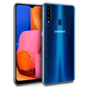 Funda Silicona Para Samsung Galaxy A20s (Transparente)