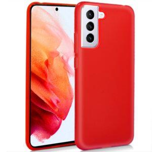Funda Silicona Samsung G990 Galaxy S21 (Rojo)