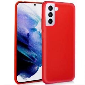 Funda Silicona Samsung G996 Galaxy S21 Plus (Rojo)