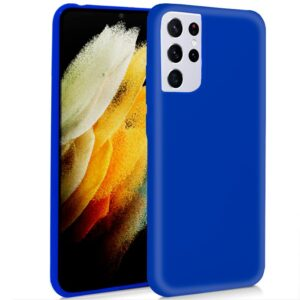 Funda COOL Silicona Para Samsung G998 Galaxy S21 Ultra (Azul)