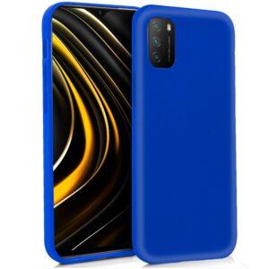 Funda Silicona Xiaomi Pocophone M3 / Redmi 9T (Azul)