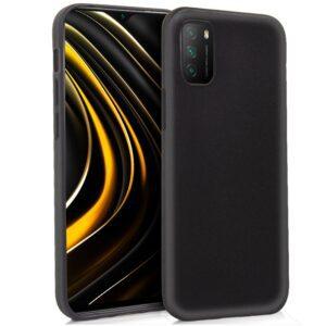 Funda Silicona Xiaomi Pocophone M3 / Redmi 9T (Negro)