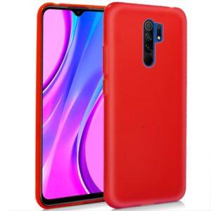 Funda Silicona Xiaomi Redmi 9 (Rojo)