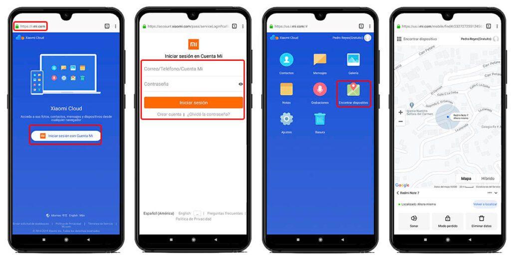 Localizar Xiaomi desde otro teléfono