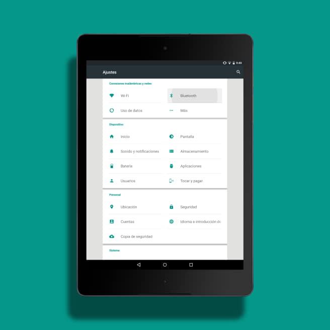 Sincronizar móvil a tablet